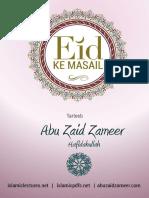 Eid Ke Masail-Abu Zaid Zameer Hafidahullah