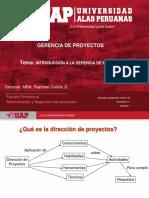 Introducción Gerencia de Proyectos P