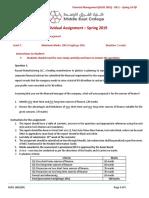 Financial_Management (BUSS 1601) - CW 2 - Spring-19-QP