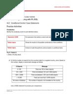 PLSQL 4 2 Practice