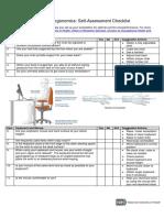Computer Workstation Ergonomics Self Assessment Checklist