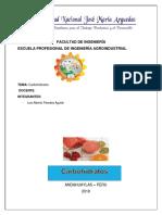 carbohidratos nutrición