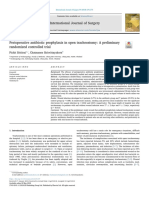 Perioperative Antibiotic Prophylaxis in Open Tracheostomy a Preliminary
