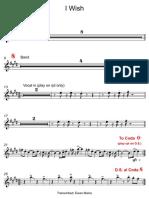 25 I Wish - Trumpet in Bb.pdf
