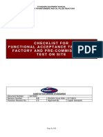 (Temp) Checklist for Inspection & Functional Acceptance Tests in Factory and Pre-commissioning Test on Site (Green v 3.0)
