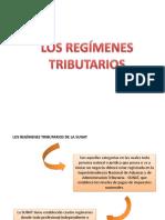 Diapositivas sobre los Regímenes tributarios