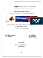 DSP Lab Manual 2018-2019-1
