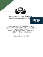 Informe de seguimiento a la resolución n° 38 - 2005