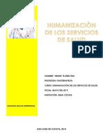 humanizacion de servicios