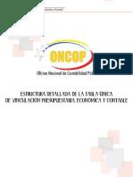 Estructura Detallada de La Tabala Única de Vinculación-1 2017