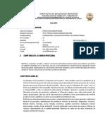 SILABO 2018 II Formul y Evaluc de Proy. Agrop.
