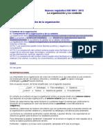 Requisitos ISO 9001-2015. 4.1 La Organización y Su Contexto