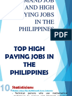 Top in Demand Job and High Paying Jobs