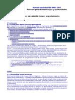 Requisitos ISO 9001-2015. 6.1 Riesgos y Oportunidades
