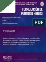 Formulación de Petitorio Minero
