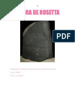 Piedra de Rosetta Sara Esperanza
