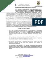 ACTA DE LIQUIDACION BILATERAL   CONTRATO DE OBRA 005 DE 2015.doc
