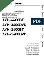 AVH-2400BT Installation Manual NL en FR de IT ES