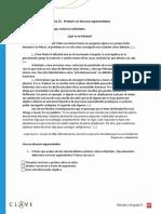 Ficha 35  Producir Un Discurso Argumentativo