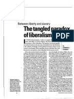 [DOMENICO LOSURDO] the Tangled Paradox of Liberalism
