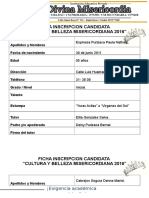 Fichas de Inscripcion Candidatas 2016