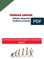 3.Diabetul Zaharat Definitie,Dg, Clasif