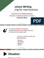 Business Writing - SCQA
