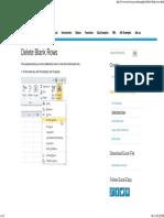 Delete Blank Rows in Excel - Easy Excel Tutorial