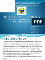 Level and Flow Rate Control in Reverse Osmosis