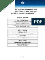 2017 AOC Conference - Baggage Workshop Agenda
