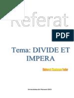 Referat Metoda Divide Et Impera