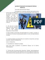 Reglas de Seguridad Al Momento de Manipular Motores Eléctricos