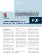 Articulo Gestion de Requisitos y III Validacion Srs y Control de Cambios