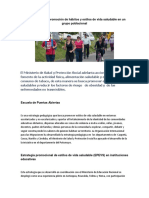 Estrategia Para La Promoción de Hábitos y Estilos de Vida Saludable en Un Grupo Poblacional