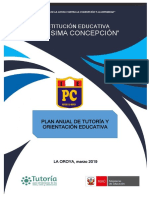 Plan Anual de Tutoria y Orientacion Educativa 2019