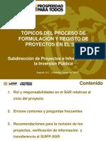Topicos de La Formulacion y Registro Federacion