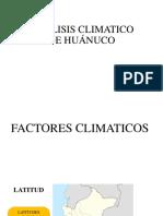 Análisis Climatico de Huánuco