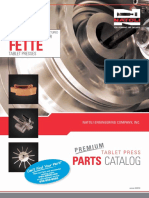 Fette Tablet Press Replacement Parts Catalog