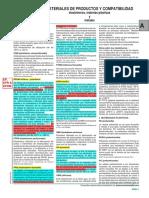 Materiales de Productos y Compatibilidad - Elastometos, Materias Plasticas y Metales (Nbr & Fpm)