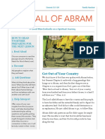 7 Call of Abram Summary Handout