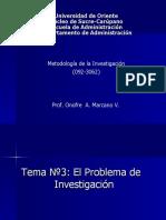 3.-El Problema de Investigación