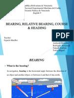Bearing, Relative Bearing, Course & Heading