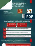 Los Gobiernos Marxista-leninista, Fascista y Democrático Social