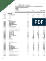 04.01 Listado de Insumos Infraestructura