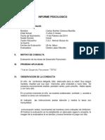 Tepsi- Modelo Informe Psicológico