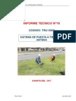 Sistema de puesta a tierra en Antena N°15-