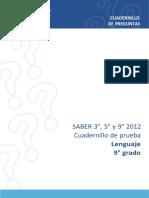 Ejemplos de Preguntas Saber 9 Lenguaje 2012-WORD