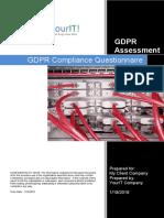 GDPR Compliance Questionnaires 2019