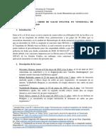 Informe Sobre La Crisis de Salud Infantil de Enero a Mayo de 2019