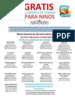 Summer Feeding Sites Flyer 2019 - SPANISH